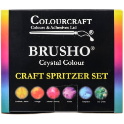 Brusho Crystal Colours Craft Spritzer Set 6/Pkg-Assorted Colors