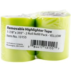 """Lee Products Removable Highlighter Tape 1-7/8""""X393"""""""
