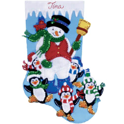 Design Works Felt Stocking Applique Kit 16