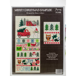 """Imaginating Counted Cross Stitch Kit 5.5""""X13""""-Merry"""