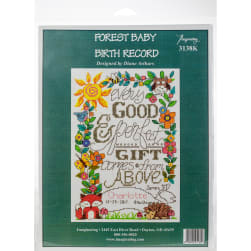"""Imaginating Counted Cross Stitch Kit 6""""X9""""-Forest Baby"""
