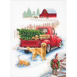 """Dimensions Counted Cross Stitch Kit 10""""X14""""-Winter Ride"""
