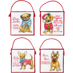 Dimensions Counted Cross Stitch Ornament Kit Set of