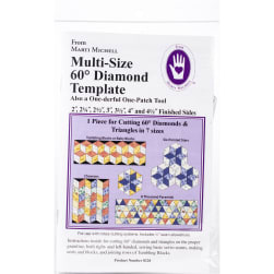 Marti Michell One-Derful One-Patch Template-60 Degree Diamond &
