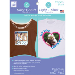June Tailor Iron-On Ink Jet Transfer Sheets 8.5