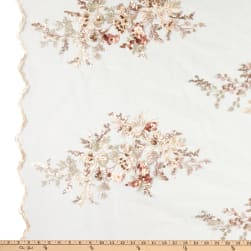 Multi Color Sequins Embroidery Blush Pink Fabric