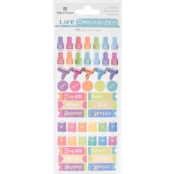Paper House Life Organized Functional Stickers 2/Sht-Me Time