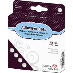 Dodz Adhesive Dot Roll-Medium .375'' 300/Pkg