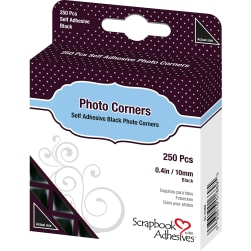 Scrapbook Adhesives Photo Corners Self-Adhesive .375'' 250/Pk-Black
