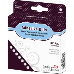 Dodz Adhesive Dot Roll-Mini .0625'' 300/Pkg