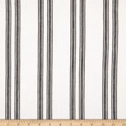 Telio Cabana Linen Rayon Twill Stripe White Black Fabric