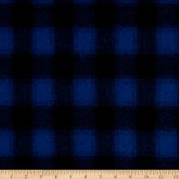 Telio Willow Wool Blend Buffalo Check Royal/Navy