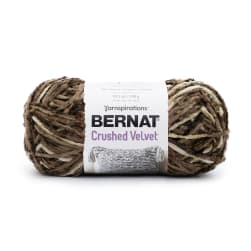 Bernat Crushed Velvet Yarn Coffee
