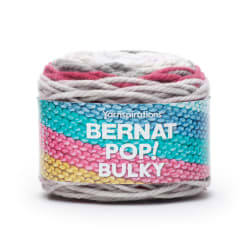 Bernat Pop! Bulky Yarn Poppy Gray