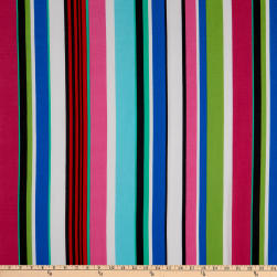 Fabtrends Washer Ghost Variegated Stripe Fuchsia/Lime