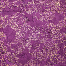 Trans-Pacific Textiles Batik Golden Lehua Purple