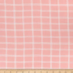 Cloud9 Organic Wildflower Cotton Picnic Pink White Fabric