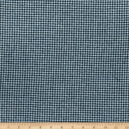 Wool Flannel Worsted Blue Fabric