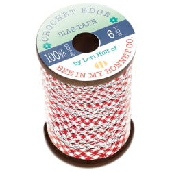Lori Holt Crocheted Bias Tape Red