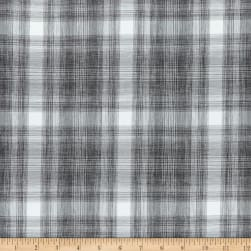 Kaufman Teton Performance Poly Poplin Plaid Steel
