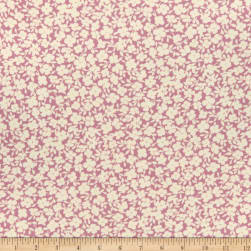 Fabric Merchants Double Brushed Poly Stretch Jersey Knit Allover Floral Mauve