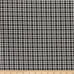 Telio Yarn Dyed Stretch Jacquard Check Ecru/Black