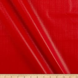Flannel Backed Vinyl Tablecloth Red