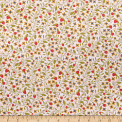 Poppie Cotton Daisy Mae Berry Blossoms Pink Fabric