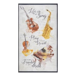 Wilmington Musical Gift Large 24'' Panel Multi Fabric