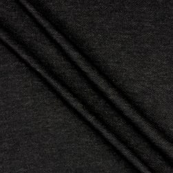 French Terry Knit Brushed Black