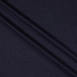 Hacci 2X2 Brushed Rib Navy Dark