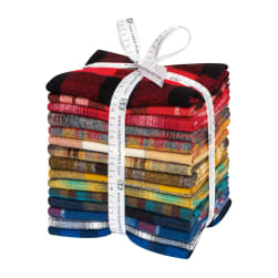 Kaufman Mammoth Flannel Fat Quarter Bundle 15pcs Rainbow