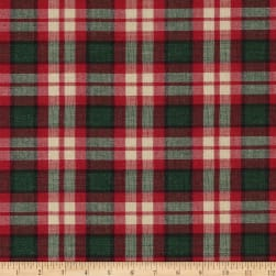 Christmas Mytar Woven Metallic Plaid Red/Green/Silver