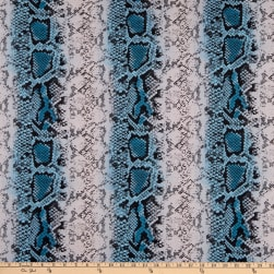 Fabric Merchants Double Brushed Poly Stretch Jersey Knit Snake Skin Teal/Lavander