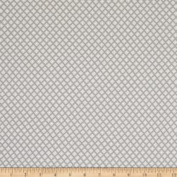 Fabric Merchants Double Brushed Poly Jersey Knit Geo Print Gray/White