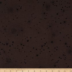 Designer Deadstock Crinkled Cotton Poly Poplin Brown/Black