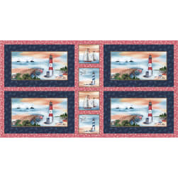 Michael Miller Fabrics By The Sea Placemats 24'' Panel Navy
