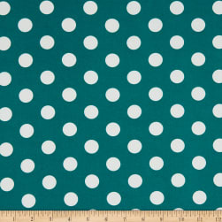 Merchants ITY Jersey Knit Large Polka Dot Emerald/White