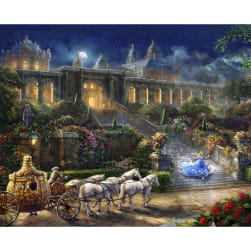 Thomas Kinkade's Digital Disney Magic Clock Strikes At Midnight 35'' Panel Multi Fabric