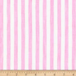 Kaufman Limerick Linen Yarn Dyed Stripes Pink