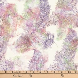 Hoffman Bali Batik Feathers Heather