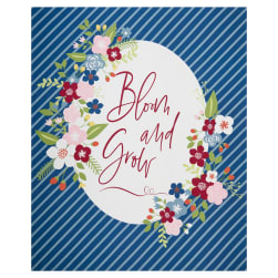 Riley Blake Bloom And Grow 36'' Panel Navy Fabric