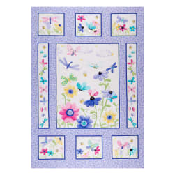 Susybee Flutter the Butterfly Quilt 36'' Panel Lilac Fabric