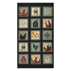 Benartex Roost Roost Squares 24'' Panel Multi Fabric