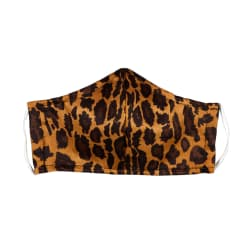 Fabtrends Cotton Sateen Facemask Animal Brown