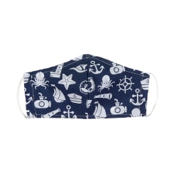 Fabtrends Poly Cotton Facemask Sailing Adventures Navy