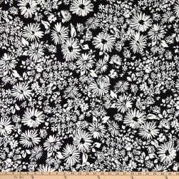 Fabtrends DTY Graphic Daisy Black/White