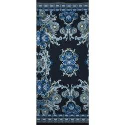 Fabtrends Ity With Puff Paisley Floral Border Teal