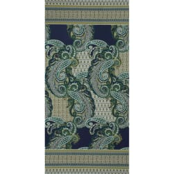 Fabtrends Ity Paisley Double Border Olive