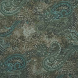 Fabtrends Yoryu With Lurex Animal Paisley Sage Teal